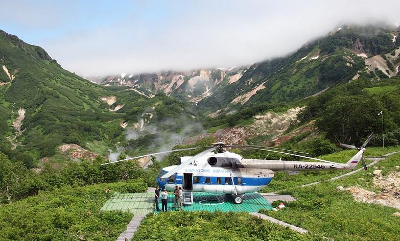 Долина гейзеров на вертолете
