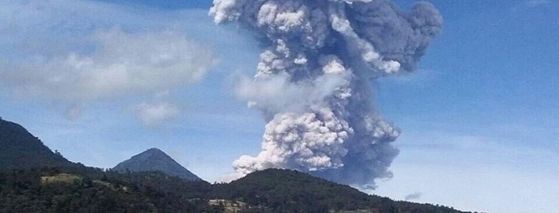 Сантьягуито 1 июля извержение