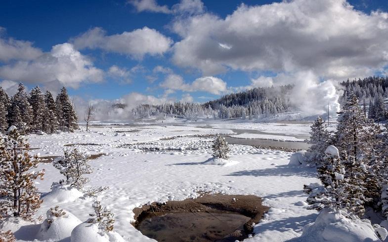 Йеллоустоун зимой