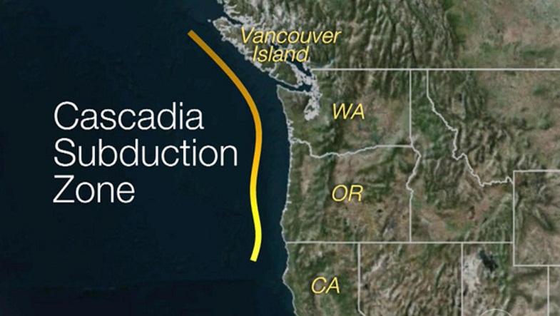 Каскадия зона субдукции
