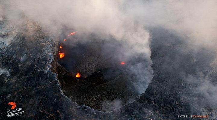Килауэа озеро лавы