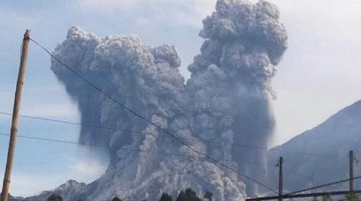 Сантьягуито вулкан 18 августа