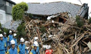 Япония разрушения