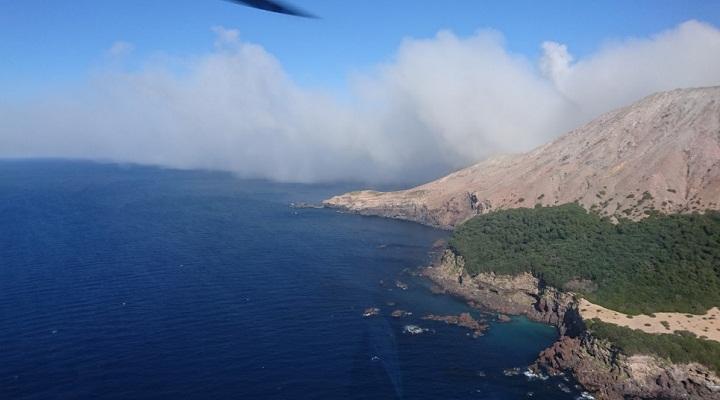 Белый остров извержение