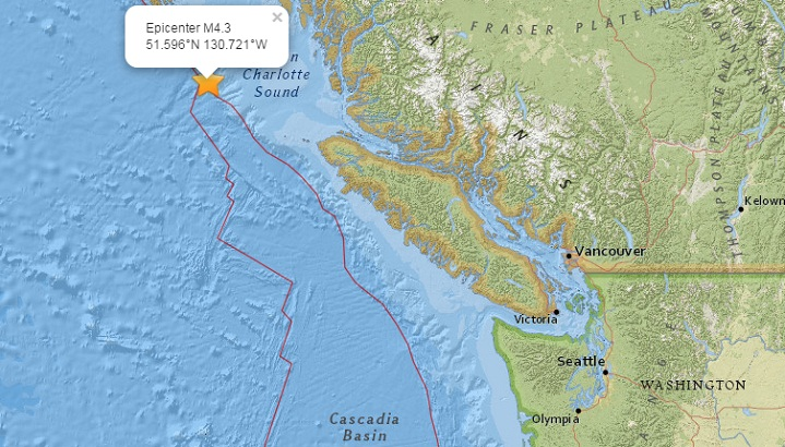 Каскадия землетрясение 16 сентября