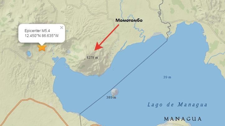 Момотомбо землетрясения