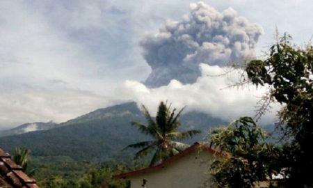 извержение ринджани эвакуация