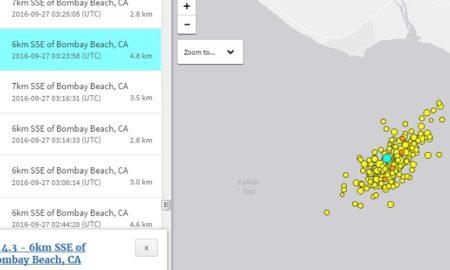 землетрясения на Солтон-Си