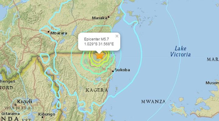 Танзания землетрясение
