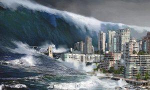 большое цунами