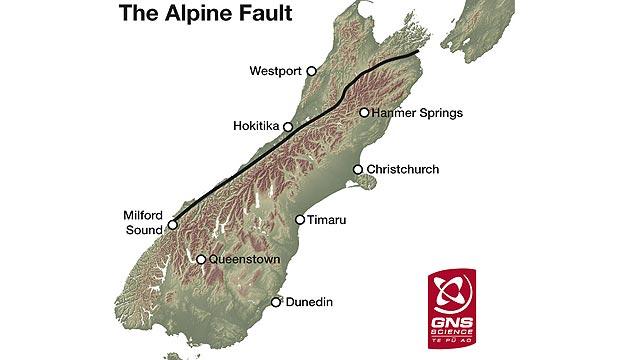 Альпийский разлом карта