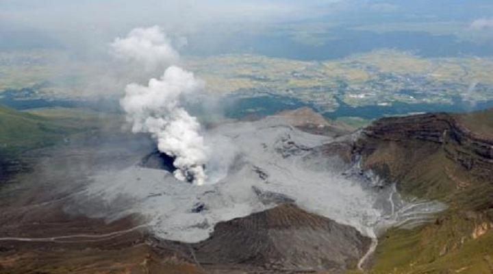Извержение вулкана Асо новости