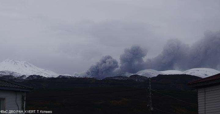 Извержение вулкана Эбеко новости