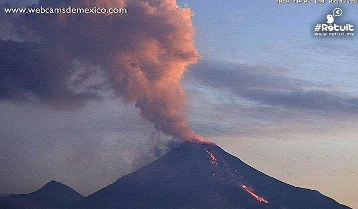 Извержение вулкана Колима фото