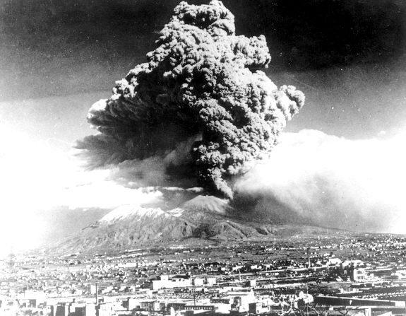 Последнее извержение Везувия