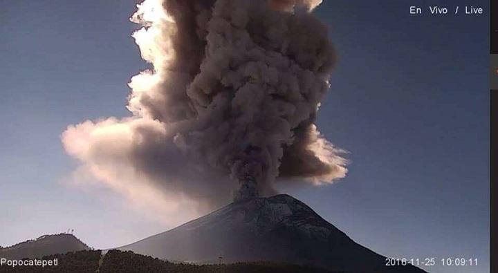 Попокатепетль извержение