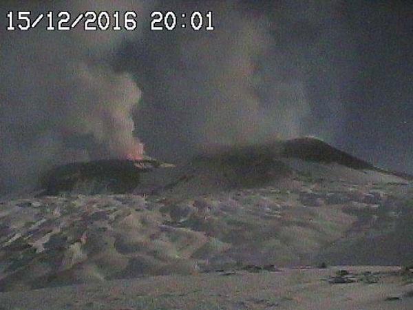 Этна вулкан 15 декабря