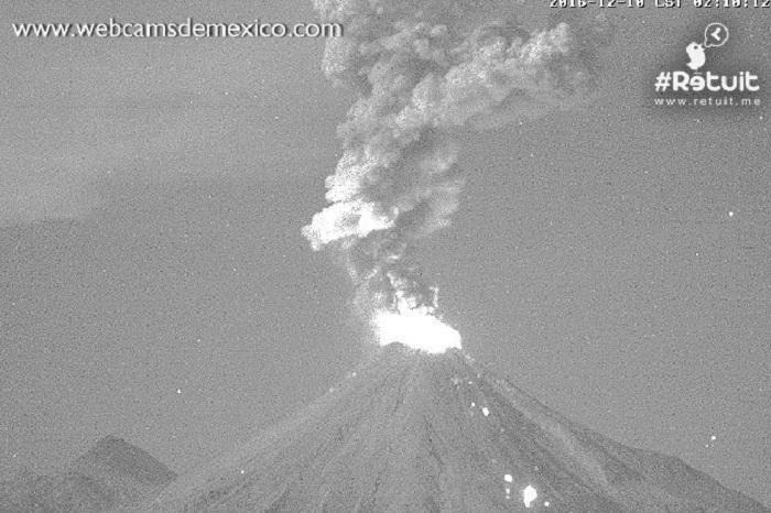 Колима вулкан 10 декабря