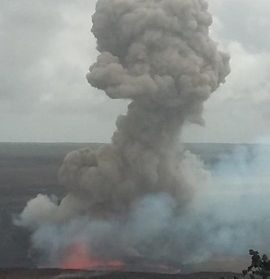 Взрыв на Килауэа 30 ноября