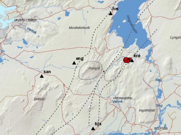 Землетрясения в районе Хейнгдиля