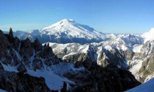 Наивысший на территории Европы вулкан Эльбрус