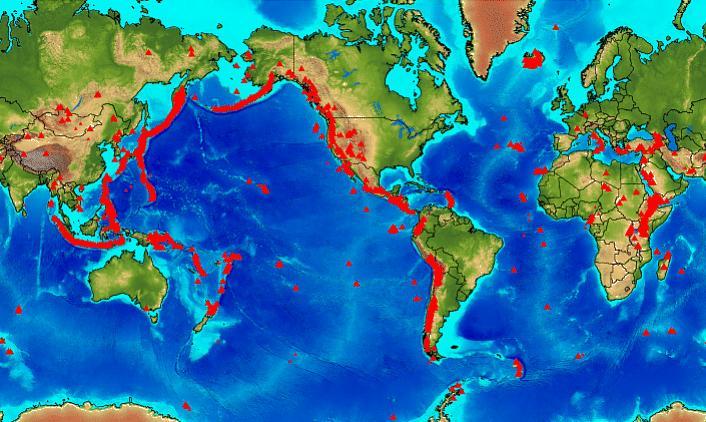 Районы вулканической активности