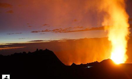 Новое извержение вулкана Питон де ла Фурнез на острове Реюньон