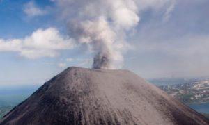 вулкан жупановский выбросил столб пепла