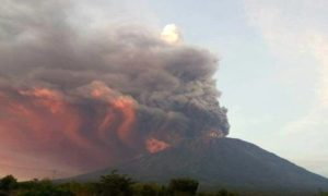 извержение вулкана Агунг